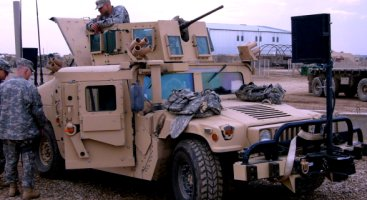 This is the newest version of the HMMV with all of the newest armor installed.