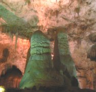 The caves lighting tends to emphisize the colors.